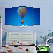 100X60  - Çocuk Odası 5 Parçalı Mdf Tablo - Çocuk-19