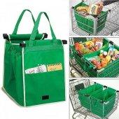 Grab Bag Market Arabasına Takılabilen Alışveriş Çantası Yeşil