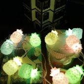 Karışık Renk Ananaslı Dolama 10 lu Led Işık Zinciri-2