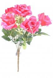 5 Dallı 28 Cm Gül Yapay Çiçek Kırmızı Ck010kz