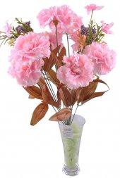 11 Dallı 50 Cm Karanfil Yapay Çiçek Pembe Ck002pe
