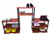 8 Katlı Maxi Plastik Ayakkabılık Kahverengi