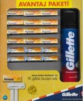 Gillette 12 Adet Permatik 6 Adet Permatik Banyo Tıraş Bıçağı Ve Klasik Bakım Tıraş Köpüğü 200ml