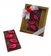 Liva Pembe Renk Dudaklı Tablet Sevgililer Günü Çikolatası
