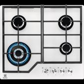 Electrolux Kgg6436w Wok Gözlü Beyaz Cam Ankastre Ocak