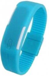 ınox Açık Mavi Silikon Renkli Led Kol Saati