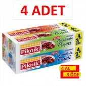 Piknik Gıda Ambalaj Buzdolabı Poşeti Karma 4 Al 3 Öde 4lü