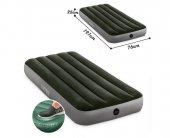 Süper Ürünıntex 64760 Tek Kişilik Şişme Yatak Kamp Yatağı Kendinden Ayak Pompalı Dura Beam Airbed