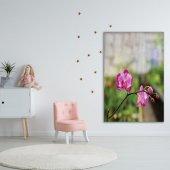 İlkbahar Orkide Çiçeği Desenli Duvar Örtüsü-3