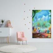 Çocuklar İçin Minik Ev Desenli Duvar Örtüsü-3