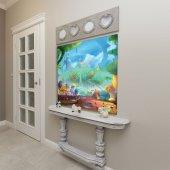 Çocuklar İçin Minik Ev Desenli Duvar Örtüsü-7