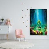 Çocuklar İçin Fantastik Desenli Duvar Örtüsü-4