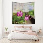 İlkbahar Orkide Çiçeği Desenli Duvar Örtüsü