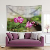 İlkbahar Orkide Çiçeği Desenli Duvar Örtüsü-2