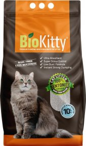 10 Lt BioKitty İnce Marsilya Sabun Kokulu Bentonite Kedi Kumu Bio Kitty Marseılle Soap Bentonit Kum