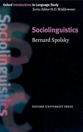 OXFORD RES: SOCIOLINGUISTICS