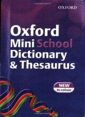 Oxford Mını School Dıct. Thesaurus