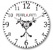 Pearl Jam Duvar Saati Bombeli Gercek Cam