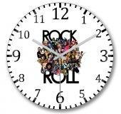 Rockn Roll Duvar Saati Bombeli Gercek Cam