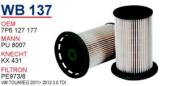 YAKIT FILTRESI VOLKSWAGEN TOUAREG 10-(3.0 V6 TDI-4(WUNDER)