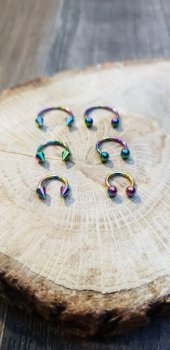 316L Cerrahi Çelik Rainbow Septum Piercing