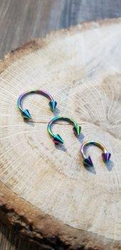 316L Cerrahi Çelik Rainbow Septum Piercing-4