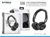 Syrox S16 Kablosuz Hafıza Kartlı Bluetooth Kulaklık Syx S16