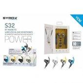 Syrox Bluetooth Kulak İçi Mıknatıslı Çift Bataryalı Kulaklık Syx S32
