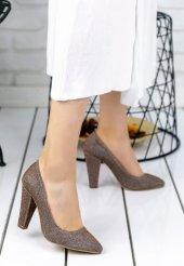 Edora Kahverengi Simli Topuklu Ayakkabı