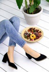 Sieni Siyah Süet Topuklu Ayakkabı