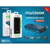 Syrox Power Bank 20.000 Mah. Led Ekranlı Metal Kasa Syx Pb111