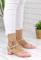 Placida Pudra Süet Topuklu Bayan Ayakkabı-2