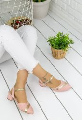 Placida Pudra Süet Topuklu Bayan Ayakkabı-3