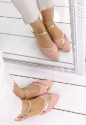 Placida Pudra Süet Topuklu Bayan Ayakkabı-4