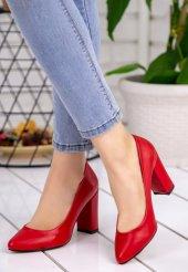 Patti Kırmızı Cilt Topuklu Ayakkabı