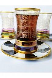 Paşabahçe Atlas Dekorlu 6 Kişilik Çay Bardağı...