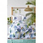 Karaca Home Palm Yeşil Ranforce Çift Kişilik...