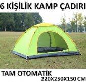 6 Kişilik Tam Otomatik Kurulum Kamp Çadırı 220x250x 150 Cm Çadır
