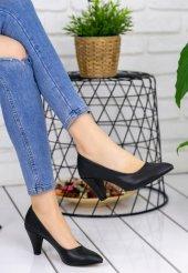 Maryy Siyah Cilt Topuklu Ayakkabı