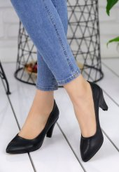 Maryy Siyah Cilt Topuklu Ayakkabı-2