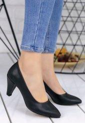 Maryy Siyah Cilt Topuklu Ayakkabı-3
