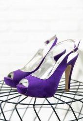 Edna4 Mor Topuklu Ayakkabı
