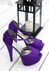 Edna24 Mor Topuklu Ayakkabı