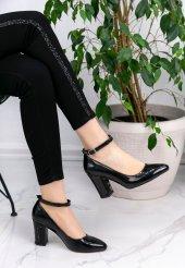 Loceya Siyah Rugan Topuklu Ayakkabı