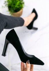 Gayle Siyah Süet Topuklu Ayakkabı