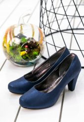 Edna65 Lacivert Topuklu Ayakkabı