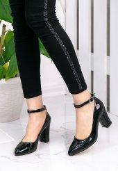 Loceya Siyah Rugan Topuklu Ayakkabı-2