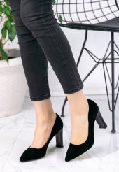 Gayle Siyah Süet Topuklu Ayakkabı-2