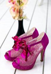 Edna35 Fuşya Topuklu Ayakkabı