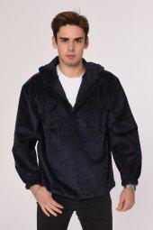 Ower Size Model Kadife Swetshirt